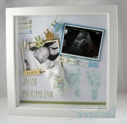 Stampin´ Up! - Baby Shadow Box/ Erinnerungsbild - Jakob Maximilian 1