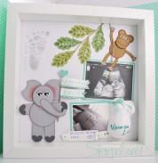 Baby Shadow Box - Baby Erinnerungsbild