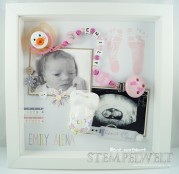 Stampin´ Up! - Baby SHadow Box/ Erinnerungsbild - Emily Alena 1