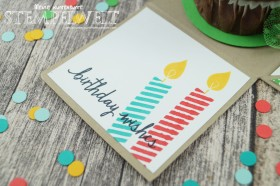 Stampin´ Up!_Explosionsbox_Build a Birthday_Flüsterweiß_Melonensorbet_Gartengrün_Bermudablau_Savanne_Curry Gelb_Mini Dreiecke_Washi Tape_Motivklebeband Bunte Party_Designerpapier im Block Bunte Party_4