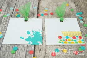 Stampin´ Up!_Explosionsbox_Build a Birthday_Flüsterweiß_Melonensorbet_Gartengrün_Bermudablau_Savanne_Curry Gelb_Mini Dreiecke_Washi Tape_Motivklebeband Bunte Party_Designerpapier im Block Bunte Party_8