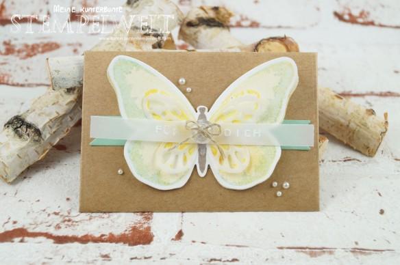 Stampin´ Up!_Watercolor Wings_Gutschein_Rubbellos selber machen_Thinlitsform Umschlag für Geschenkkarte_Framelits Schmetterling_Dymo_1