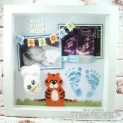 Baby Shadow Box - Baby Erinnerungsbild - Erinnerungen nach der Geburt - Babies erste Erinnerung