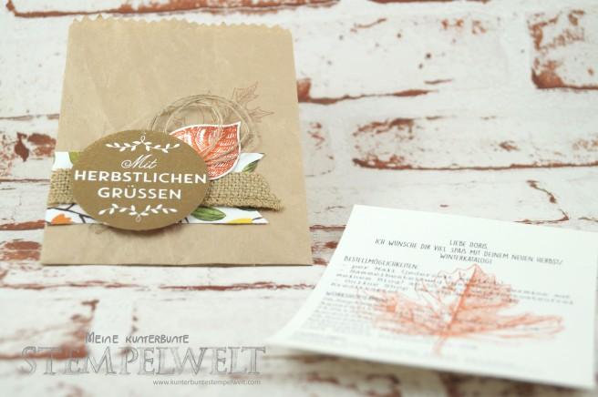 Stampin´ Up!_Thinlits Leckereientüte_Vintage Leaves_Zwischen den Zweigen_Designerpapier Am Waldrand_Packpapier_Jute Band_Leinenfaden_Herbst/ Winterkatalog 2015_3
