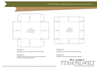 Anleitung_Verpackung für vier Ferrero Küsschen