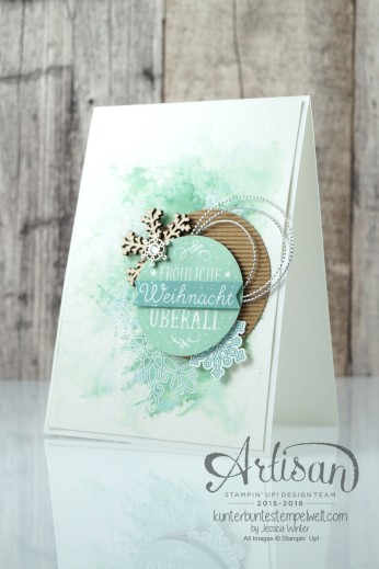 Stampin´ Up!_Artisan Blog Hop_Smooshing Technik_Flockenzauber_Elementstanze Schneeflocke_1