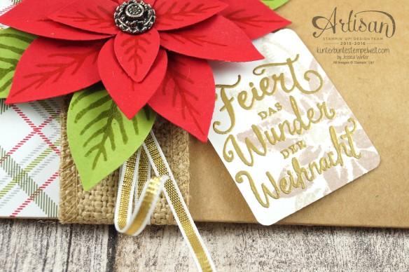 Stampin´ Up!_Weihnachtswunder_Elementstanze Festliche Blüte_Designerpapier im Block Fröhliche Feiertage_Pillow Box_6