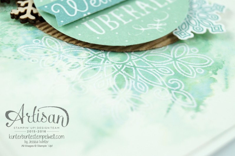 Stampin´ Up!_Artisan Blog Hop_Smooshing Technik_Flockenzauber_Elementstanze Schneeflocke_4