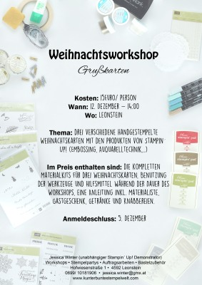 flyer weihnachtsworkshop