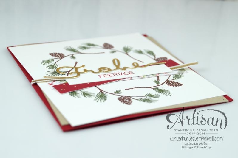 Stampin´ Up! - Wonderland - Designerpapier im Block Fröhliche Feiertage - Chili - Savanne - Thinlitsformen Weihnachtliche Worte - 3