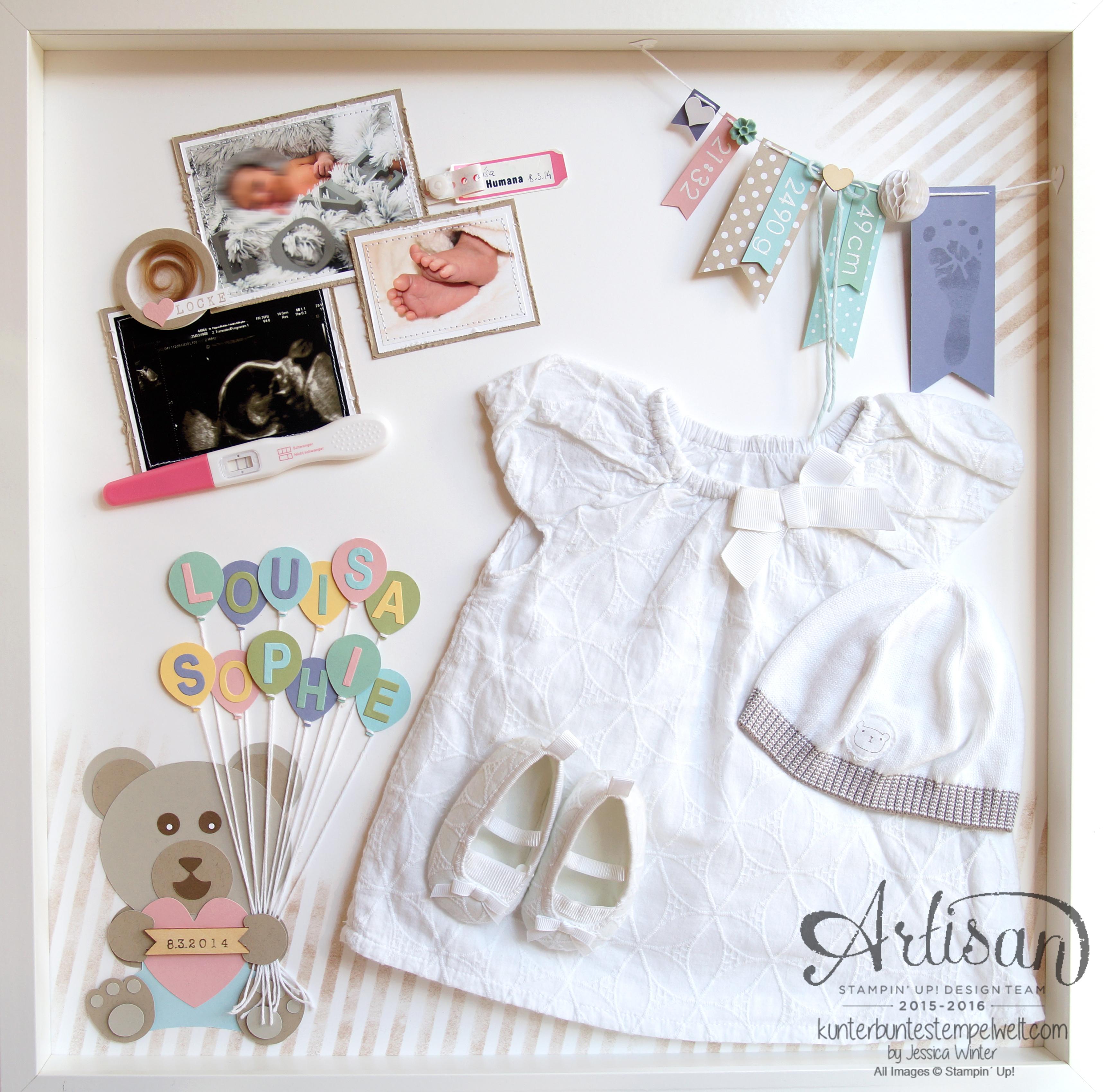 Baby Shadow Box – Louisa Sophie – Meine kunterbunte Stempelwelt