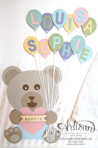 Stampin´ Up - Shadow Box - Baby Erinnerungsbild - erste Erinnerungen - Babyrahmen - 5