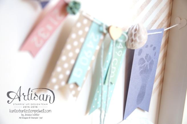 Stampin´ Up - Shadow Box - Baby Erinnerungsbild - erste Erinnerungen - Babyrahmen - 7