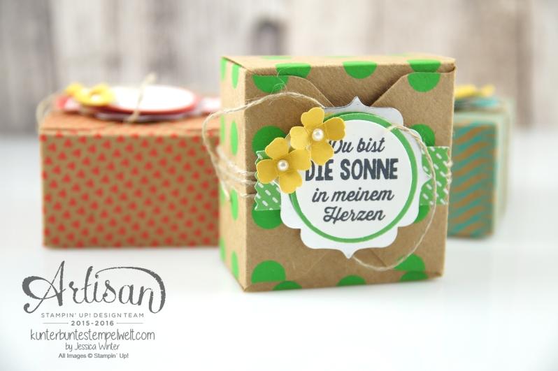 Stampin´ Up! - Artisan Design Team - Envelope Punch Board - Verpackung mit Verschlusslasche - Besonderes Designerpapier Sommerglanz - 1