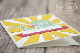 Stampin´ Up! - Artisan Design Team - Blog Hop - Thinlitsform Sonnenstrahlen - Hallo - Sonnengruß - 2