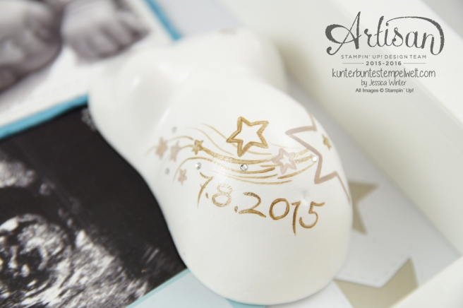 Stampin Up! - Artisan Design Team - Shadow Box - Erinnerungsbild - Mini Gipsbauch Cameo - 6