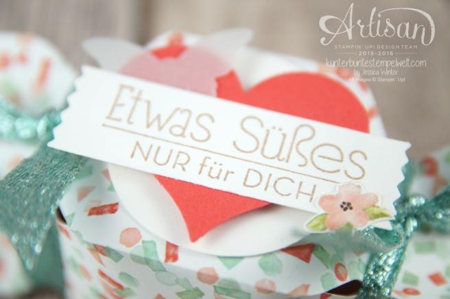 Stampin´ Up! - Artisan Design Team - Envelope Punch Board - Verpackung - Anleitung - Designerpapier Geburtstagsstrauß - 2
