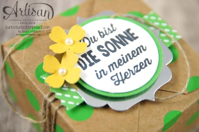 Stampin´ Up! - Artisan Design Team - Envelope Punch Board - Verpackung mit Verschlusslasche - Besonderes Designerpapier Sommerglanz - 2