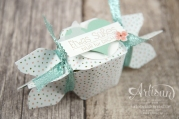Stampin´ Up! - Artisan Design Team - Envelope Punch Board - Verpackung - Anleitung - Designerpapier Geburtstagsstrauß - 3
