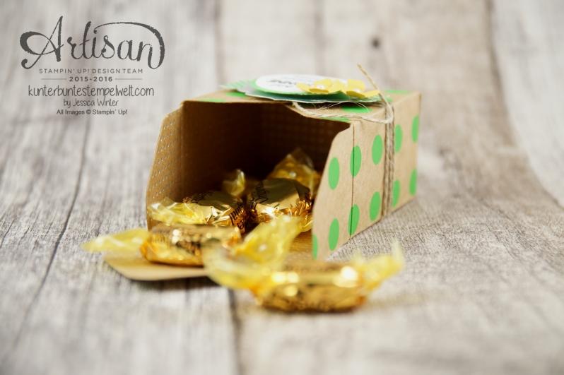 Stampin´ Up! - Artisan Design Team - Envelope Punch Board - Verpackung mit Verschlusslasche - Besonderes Designerpapier Sommerglanz - 3