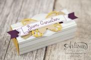 Stampin´ Up! - Artisan Design Team - Designerpapier Wildblumenwiese - Framelits Schmetterling - eleganter Schmetterling - Ein kleiner Gruß - 3