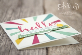 Stampin´ Up! - Artisan Design Team - Blog Hop - Thinlitsform Sonnenstrahlen - Hallo - Sonnengruß - 4