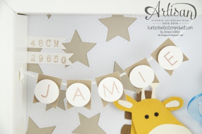 Stampin Up! - Artisan Design Team - Shadow Box - Erinnerungsbild - Mini Gipsbauch Cameo - 3