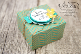 Stampin´ Up! - Artisan Design Team - Envelope Punch Board - Verpackung mit Verschlusslasche - Besonderes Designerpapier Sommerglanz - 4