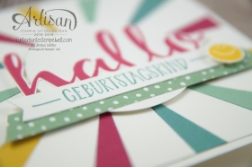 Stampin´ Up! - Artisan Design Team - Blog Hop - Thinlitsform Sonnenstrahlen - Hallo - Sonnengruß - 5