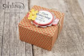 Stampin´ Up! - Artisan Design Team - Envelope Punch Board - Verpackung mit Verschlusslasche - Besonderes Designerpapier Sommerglanz - 5