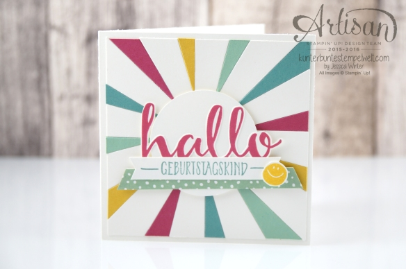 Stampin´ Up! - Artisan Design Team - Blog Hop - Thinlitsform Sonnenstrahlen - Hallo - Sonnengruß - 6