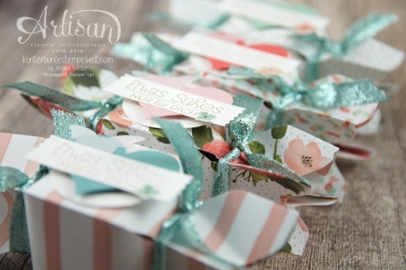 Stampin´ Up! - Artisan Design Team - Envelope Punch Board - Verpackung - Anleitung - Designerpapier Geburtstagsstrauß - 6