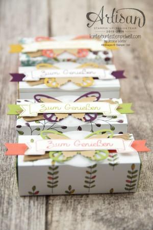 Stampin´ Up! - Artisan Design Team - Designerpapier Wildblumenwiese - Framelits Schmetterling - eleganter Schmetterling - Ein kleiner Gruß - 6