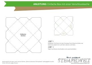 Anleitung - Box mit Verschlusslasche (Envelope Punch Board)