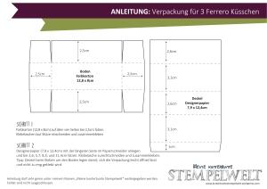 Anleitung - Verpackung für drei Ferrero Küsschen