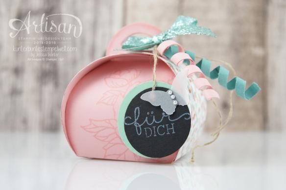 Stampin´Up! - Artisan Design Team - Curvy Ceepscake - Zierschachtel für Andenken - Geburtstagsblumen - Glitterband -1