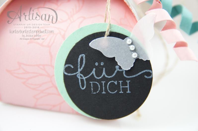 Stampin´Up! - Artisan Design Team - Curvy Ceepscake - Zierschachtel für Andenken - Geburtstagsblumen - Glitterband -2