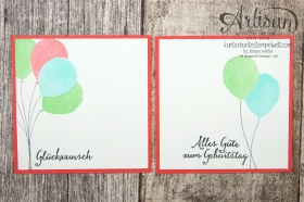 Stampin´ Up! - Artisan Design Team - besonderes Designerpapier Sommerglanz - Party Ballons - Thinlitsform Tortenstück - 2