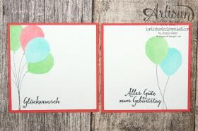 Stampin´ Up! - Artisan Design Team - besonderes Designerpapier Sommerglanz - Party Ballons - Thinlitsform Tortenstück - 2