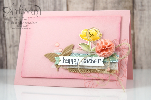 Stampin´ Up! - Artisan Blog Hop - Geburtstagsblumen - So süß - Osterkarten - Mischstifte - Honigwaben - 2
