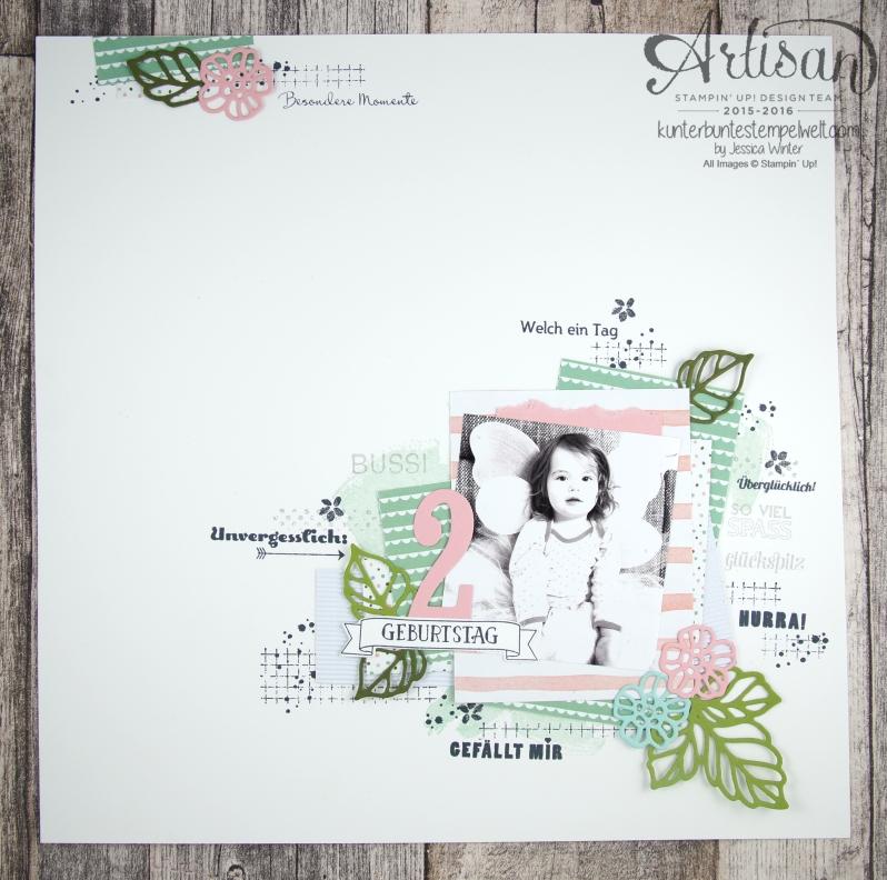 Stampin´ Up! - Artisan Design Team - Blog Hop - Rosengarten - Designerpapier - Geburtstagsstrauß - Project Life Unvergesslich - Timeless Textures - 1