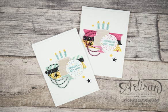 Stampin´ Up! - Artisan Design Team - Party Grüße - Lack-Pünktchen - Washi Tape - 1