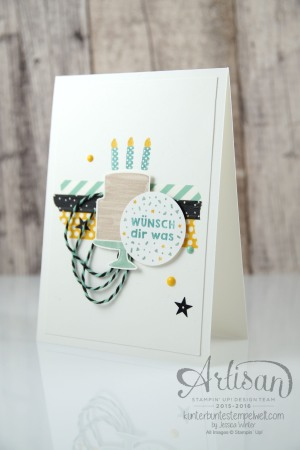 Stampin´ Up! - Artisan Design Team - Party Grüße - Lack-Pünktchen - Washi Tape - 2
