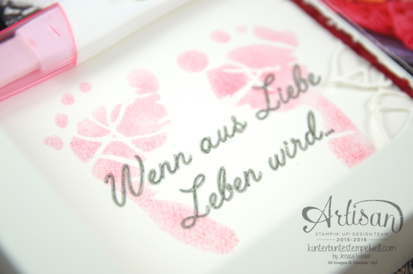 Stampin´ Up! - Shadow Box - Erinnerungsbild - Thinlits Rosengarten - Back to Basic Alphabet - 2