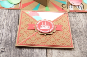 Stampin´ Up! - Artisan Design Team - besonderes Designerpapier Sommerglanz - Party Ballons - Thinlitsform Tortenstück - 4