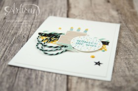 Stampin´ Up! - Artisan Design Team - Party Grüße - Lack-Pünktchen - Washi Tape - 4