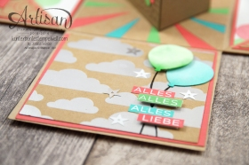 Stampin´ Up! - Artisan Design Team - besonderes Designerpapier Sommerglanz - Party Ballons - Thinlitsform Tortenstück - 5