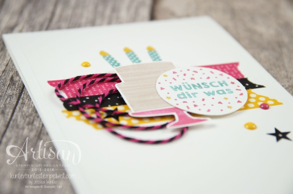 Stampin´ Up! - Artisan Design Team - Party Grüße - Lack-Pünktchen - Washi Tape - 5