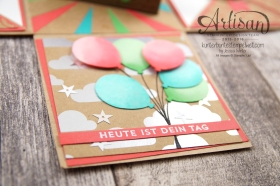 Stampin´ Up! - Artisan Design Team - besonderes Designerpapier Sommerglanz - Party Ballons - Thinlitsform Tortenstück - 6