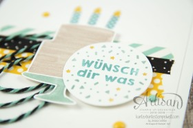 Stampin´ Up! - Artisan Design Team - Party Grüße - Lack-Pünktchen - Washi Tape - 6